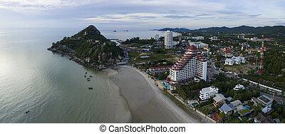 aerial view of khao takeib hua hin prachaupkirikhan southern...