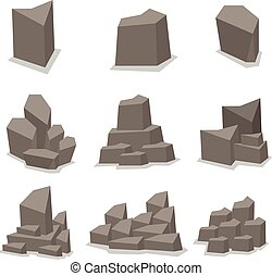 Illustration of stone set vector