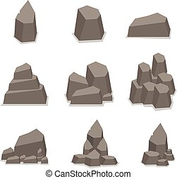 Vector of stone style set