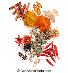Assorted of spices