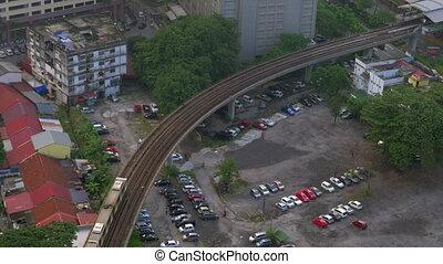Overground railway in Kuala Lumpur, Malaysia