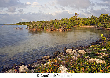 Biscayne National Park during sunset