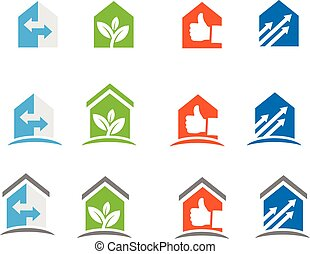 Home and house icon - Home, house and Real Estate renovation...