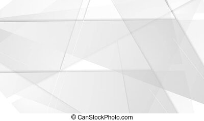 Grey abstract tech geometric polygonal video animation -...