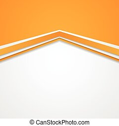Abstract tech corporate orange background. Vector design