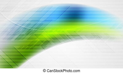 Abstract blue green technology video animation