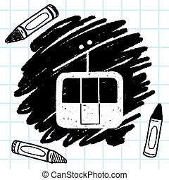 doodle cable car