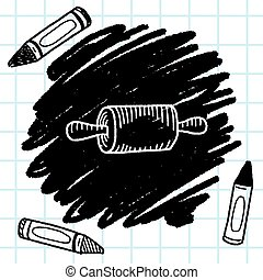 Doodle Rolling pin