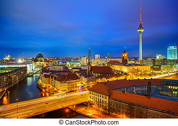 Berlin aerial view, Germany - aerial view of Berlin at...