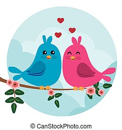 two colorful birds sitting on a branch
