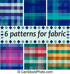 repeating vector argyle patterns in soft browns and light blue.