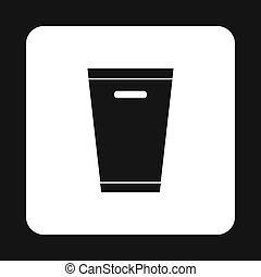 Dustbin icon, simple style - Dustbin icon in simple style...