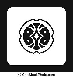 Shield for fighting icon, simple style - Shield for fighting...