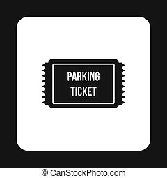 Parking ticket icon, simple style - Parking ticket icon in...