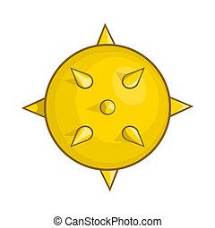 Virus icon in cartoon style