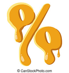 Percentage from honey icon