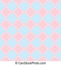 Simple background with rhombus. - Simple blue and pink...