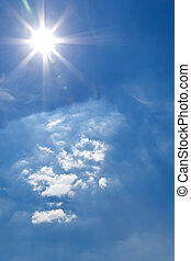bright sun - An image of a bright sun background