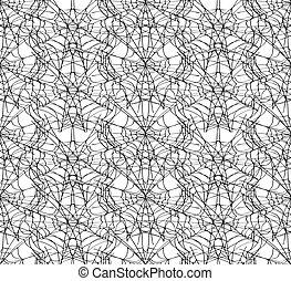 Spiderweb white seamless pattern.
