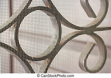 mosquito wire screen and curved steel for home