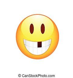 sem, sorrizo,  smiley, dente