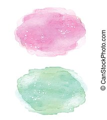 Colorful soft colors watercolor blue and pink texture background.