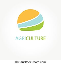 Circle agricultural logo vector illustration. - Circle...