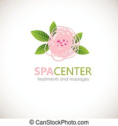 Floral symbol of spa. Logo. Vector Icon - Floral symbol of...