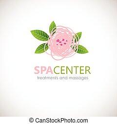 Floral symbol of spa. Logo. Vector Icon - Floral symbol of...