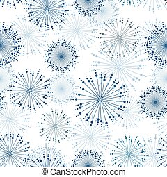 Vector seamless pattern with stylized flowers. - Vector...