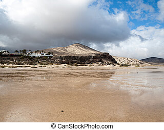 The famous lagoon in Risco El Paso at Playas de Sotavento,...