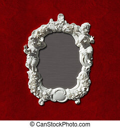 antique picture, photo or mirror frame
