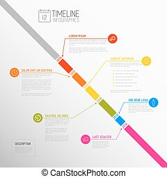 Vector Infographic timeline report template - Vector...