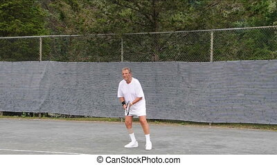 tennis player topspin lob