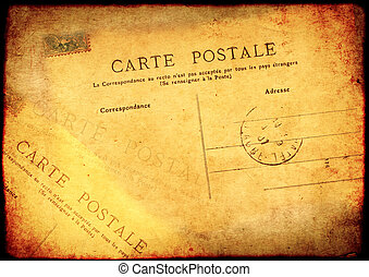 Grunge background with texture old paper and vintage post...