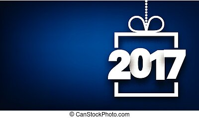 2017 New Year blue background. - 2017 New Year sign on blue...