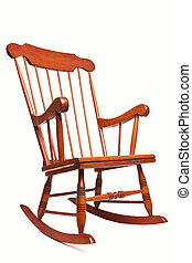 Rocking chair isolated on a white background - Photo of a...
