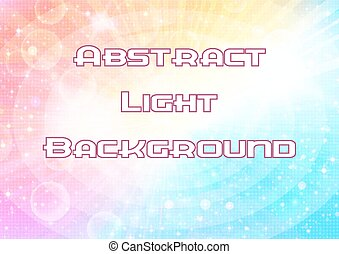 Abstract Pink and Blue Background with Light Sparks, White...