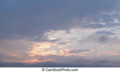 Epic clouds at dawn. Time lapse - Epic cirrus and cumulus...