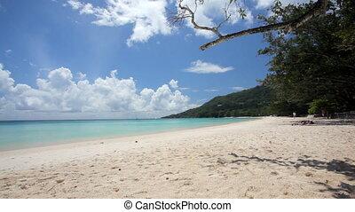 wide tropical beach