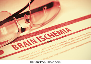 Brain Ischemia. Medicine. 3D Illustration. - Brain Ischemia...