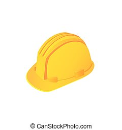 Large construction helmet on a white background. Vector...
