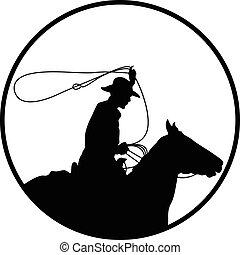 cowboy wrangler silhouette