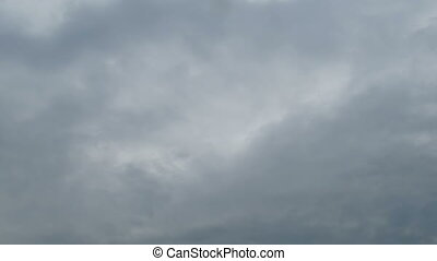 Clouds Moving in the Blue Sky. White, rain, gray, haze,...