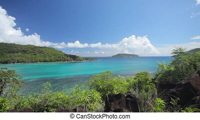 pan shot over tropical bay - pan shot over wonderful...