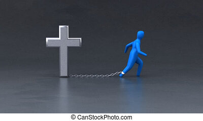 The cross - 3D Animation