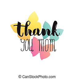 Greeting watercolor card Mother and 39;s dayThank you...