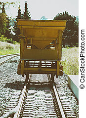 Rail trailer - A trailer for ballast stones, tools and...