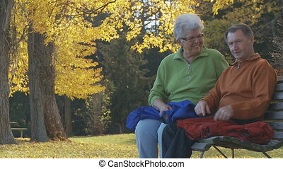 senior couple in park part I