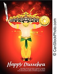happy dussehra celebration background with fireeps - happy...